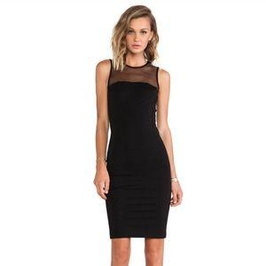 Torn by Ronny Kobo Carson Mesh Sleeveless Dress